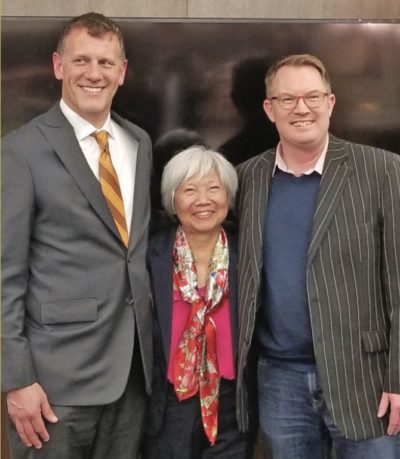 CCIM Western Canada Chapter President Stephen Gammer, Mercedes Wong and Michael Shilton
